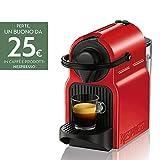 Nespresso Inissia Macchina per caffé espresso, 1260 W, 0.7 L, Rosso (Ruby Red)