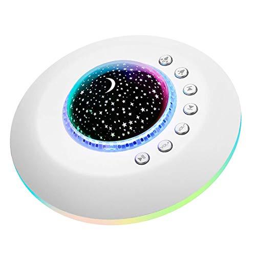 APPLL White Noise-Maschine-Baby - Sound Machine Mit Bunten Nachtlicht Für Baby-Erwachsene Klangtherapie Maschine Heim 20 Non-Looping Beruhigender Natur Sounds Mit Timer-Funktion