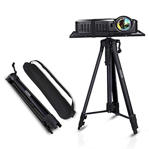 Projector Stand,Laptop Stand,Aluminum Multifunction Tripod Stand with Tray Adjustable Tripod Laptop Projector Stand, 17' to 46' Universal Device Stand Perfect for Stage or Studio Use
