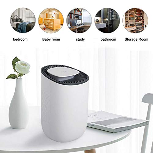 Lowest Price! ZXGHS Portable Dehumidifier, 35Db Mute/One Key to Turn on Dehumidification, Small Hous...
