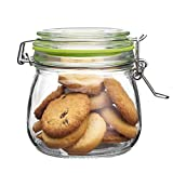 Glass Jars with Clip Lids 500ml, Mason Jars, Food Storage Containers Airtight for Homemade Jam Preserving Cookies Pasta Sweets Spice, Green