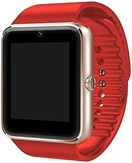 NIYOQUE 2017 Nuevo Reloj Inteligente GT08 Bluetooth Soporte Inteligente Sim y Tarjeta TF para Apple iPhone y Samsung Android Reloj Inteligente (Rojo, con Caja al por Menor)