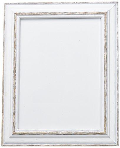 Deknudt Frames S221H3 - Cornice per Foto 15 x 20, Modello Basic, Legno, Colore: Bianco  Nero