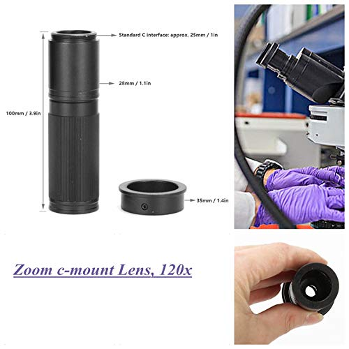 Almencla 100X Digital Industry Microscope Camera C Mount Interface Optical Zoom Lens