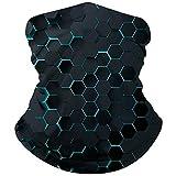 NEWISTAR 3D Drucken Halstücher Kopfbedeckung Multifunktionstuch Atemschutz Mundschutz Halstuch Motorrad Tuch Atmungsaktiv Bandanas