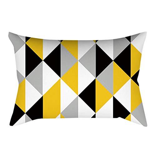 Nouveau! Mamum Ananas Feuille Jaune taie d'oreiller canapé Voiture Taille Jeter Housse de Coussin décor à la Maison 30 x 50 cm (R)