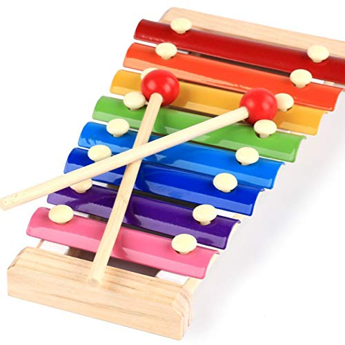 Hölzernes Kinderspielzeug Oktave Klopfen am Klavier Schlagen Sie das Xylophon-Vorschulmusikinstrument (bunt) -BCVBFGCXVB