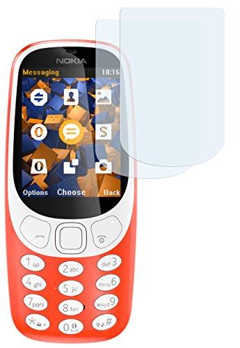 mumbi Schutzfolie kompatibel mit Nokia 3310 Folie klar, Bildschirmschutzfolie (2X)