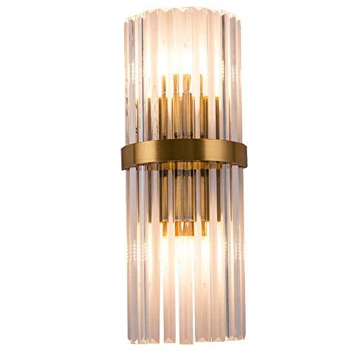 JJRPPFF Aplique de Pared con portalámparas E14, Luces de Noche para Dormitorio, iluminación de Pared de Fondo de TV para Sala de Estar, Accesorio de habitación Modelo de Hotel, Pantalla de Cristal