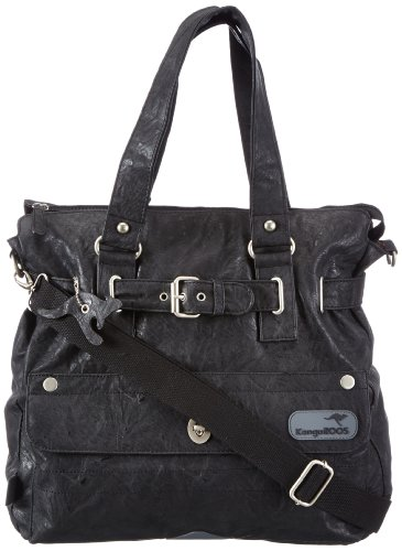 KangaROOS JEAN-II shopper (set) B0290 Damen Shopper 40x39x15 cm (B x H x T), Schwarz (black 500 500)