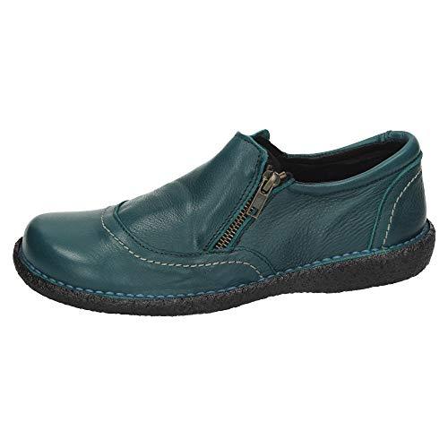 MADE IN SPAIN 2015 Botines DE Piel Mujer Zapatos MOCASÍN Turquesa 40