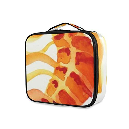 SUGARHE Buntes Aquarium orange Gelb Seahorse Aquarell Skizzen Tier wild lebende Tiere aquatisch schön,Kosmetik Reise Kulturbeutel Täschchen mit Reißverschluss