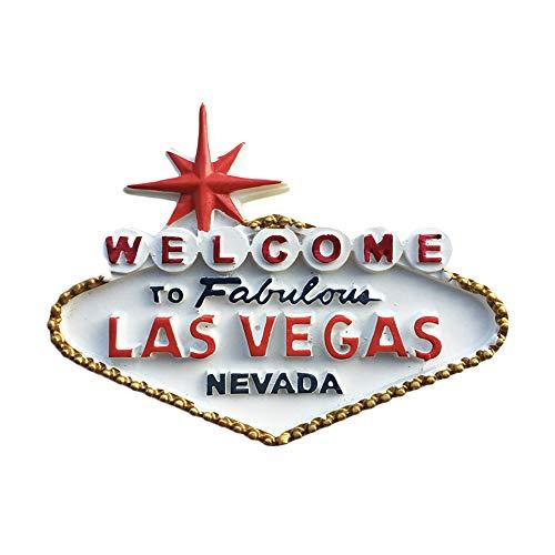 Casinò 3D Las Vegas USA Frigorifero Magnete Frigo Souvenir turistici Mestieri Artigianali in Resina Fatti a Mano Adesivi magnetici Decorazione da Cucina Regalo da Viaggio