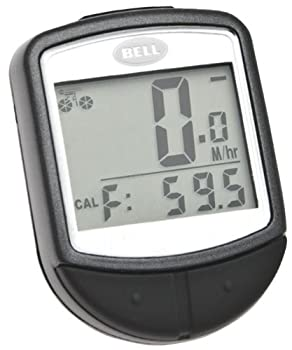 BELL Free Fit 15 Function Wireless Bike Computer  Black/Silver
