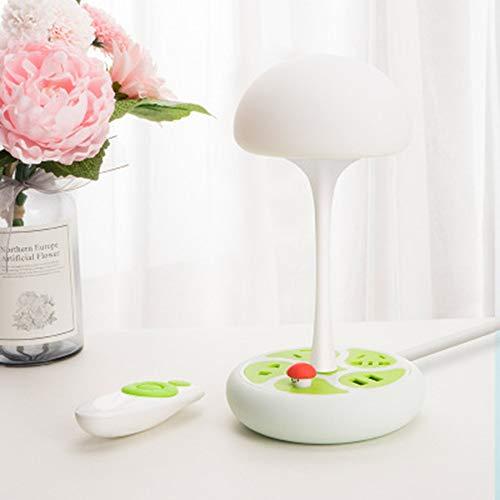 JminJC Lampe De Table Créative Lampe De Table Multi-Fonctions pour Station De Chargement avec Prise De Courant Prise USB Lumière Douce œil Simple Moderne,White