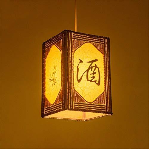BAIJJ Lámpara Colgante de bambú Lámpara de ratán Lámpara de araña Lámpara...