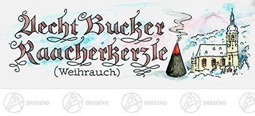 Bucker Räucherkerzen Weihrauch 24 Kerzen NEU Erzgebirge Rauchfigur Rauchmann Räuchermännel