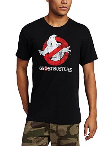 Ghostbusters Shirt Distressed Logo phosphorescente Hommes Costume T-Shirt (Grand)