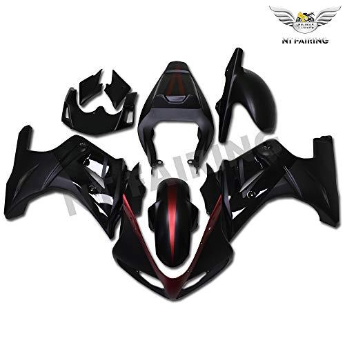 NT FAIRING Matte Black Red Fairing Fit for SUZUKI 2003-2008 SV650 New ABS Plastics Bodywork Body Kit Bodyframe Body Work
