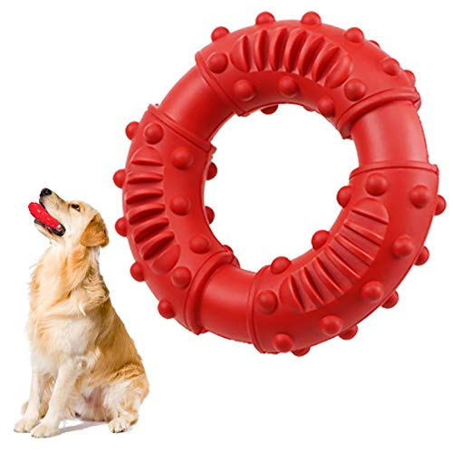 Juguetes para Perros,Juguetes para Morder para Perros,Mascota Juguete,Juguetes Interactivos para Perros Grandes, Cachorros, Gatos, etc(Rojo)