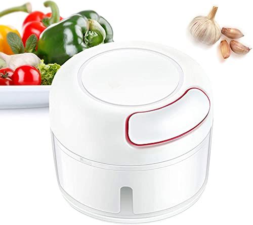 Mini Garlic Crusher, Cutter, Garlic Grinder Vegetable Chopper, Crusher, Easy to Use-Tough Stainless Steel Blades,Ideal Tool for Home Kitchen.