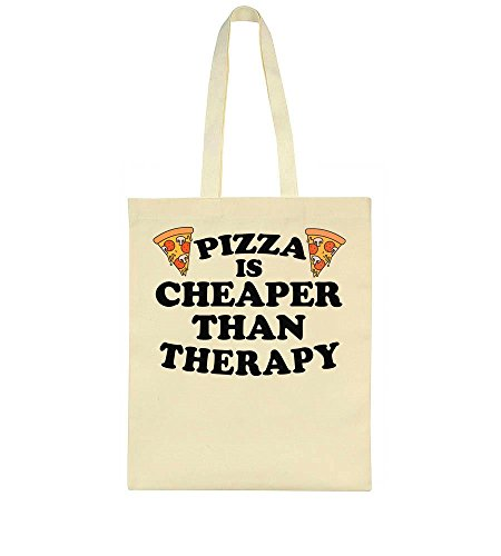 IDcommerce Pizza Is Cheaper Than Therapy Two Delicious Pizza Slices Tote Bag