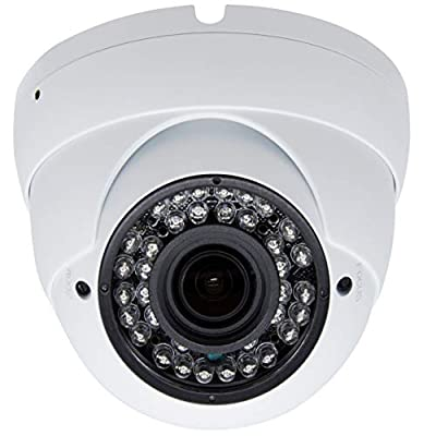 Inwerang 2MP HD 1080p CCTV Dome Security Camera,TVI/AHD/CVI/960H CVBS(4in1) Outdoor/Indoor 2.8mm-12mm Varifocal Lens 100ft Infrared Distance, IP66 Water-Proof Day & Night Vision CCTV Security Camera