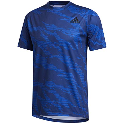 adidas Men's Freelift Camo Tee Glory Blue Small