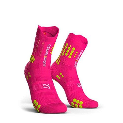COMPRESSPORT - Calcetines de competición V3.0 Trail (Talla 36-42), Color Rosa
