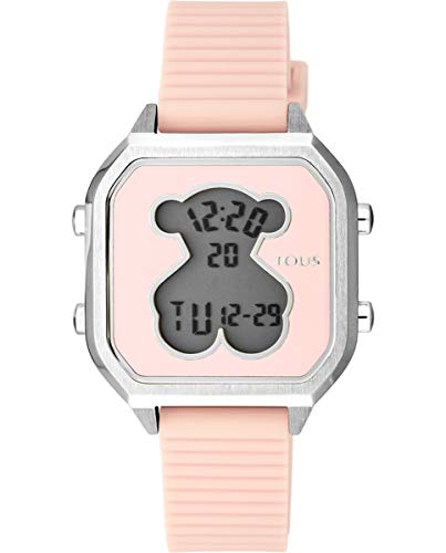 Reloj TOUS Mujer D-Bear Teen Square SS Silicona Rosa- Ref 100350385