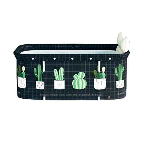 YLJJ Bañera Plegable para Adultos, Barril de baño Plegable, baño doméstico y Barril de baño de Vapor, Negro-2,120 * 55 * 50 cm (3,5 kg)