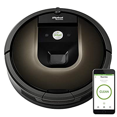 iRobot Roomba 981 Robot Vacuum-Wi-Fi Connected Mapping, Works with Alexa, Ideal for Pet Hair, Carpets, Hard Floors, Power Boost Technology, Black from Irobot