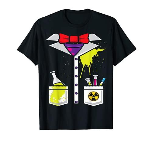 Disfraz de Cientfico Loco Carnaval de Halloween Ciencia Camiseta