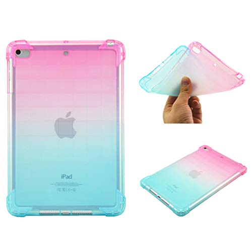 Bumina Case for iPad Mini 5 2019, [Gradient Series] Slim Fit Zachte TPU Crystal Clear Slanke Anti Slip Case Transparante Back Protector Beschermhoes voor Apple iPad Mini 5/ Mini 4 7.9 Inch Tablet 4