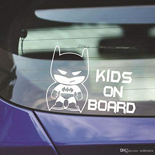 Recaptured© Kids On Board Aufkleber für Autofenster, Batman Vinyl, Schwarz