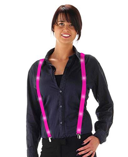 Fancy Kleid Neon farbigen Hosenträger mit LED Lights–Pink