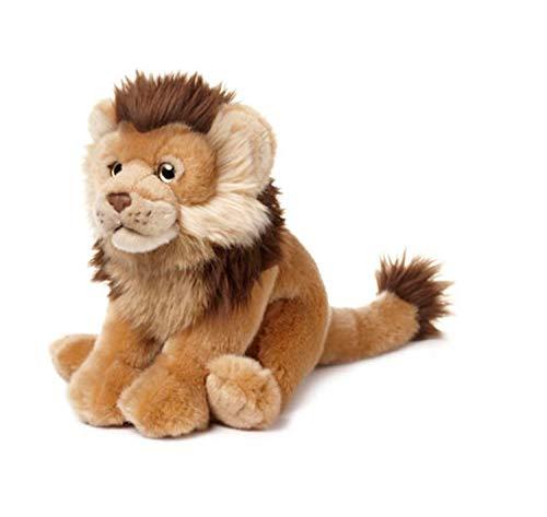 WWF WWF-15192047 WWF00612 Plüsch Löwe, realistisch gestaltetes Plüschtier, ca. 23 cm groß und wunderbar weich