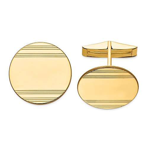 14k Yellow Gold Mens Circular Line Design Cuff Links Cufflinks Link Fine Jewellery For Dad Mens Gifts For Him steampunk buy now online