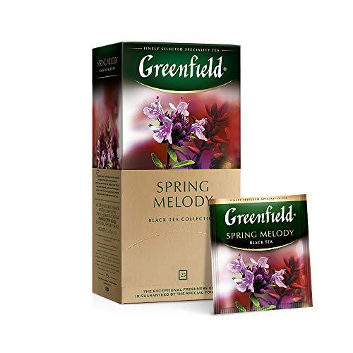 Greenfield Schwarzer Tee, Frühling-melodie, 25 Teebeutel in einer Box [2 stück]