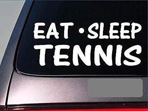 CELYCASY Tennis-Sticker Eat Sleep, 20,3 cm, Vinyl, Tennisball, Hose, Rock