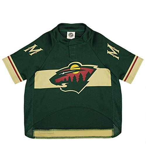 Pets First NHL Minnesota Wild Jersey for Dogs & Cats, X-Small. - Let Your Pet be a Real NHL Fan!