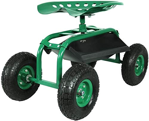 Varan Motors - tc4501A Gartensitz 150kg, Gartenwagen, Bank, Werkstattwagen, Arbeitssitz