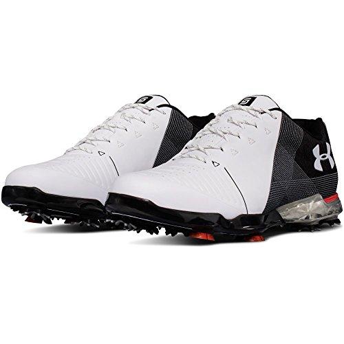 Under Armour Men's Spieth 2 Golf Shoe, White 1 (104)/Black, 9.5