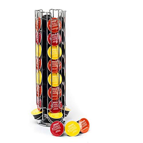 Neo Girevole Rotativo 32 Supporto a Torre per Cialde di Caffè Supporto Rack per Dolce Gusto