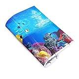 popetpop acquario sfondo adesivo 3d carta da parati a doppia faccia serbatoio di pesce poster scenografia subacquea immagine decor (52x30cm, stile a)