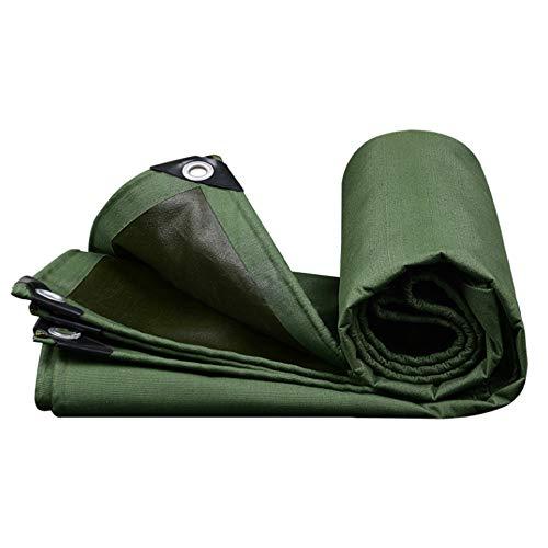 Sgohevn Lona Gruesa de Polietileno de plástico Impermeable con Arandelas de Metal Cubierta de Lona Material Plateado Resistente, Impermeable, para Techo, Camping, Exterior, Patio