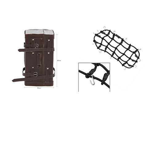 harayaa for RC Rock Crawler 1:10 Decoration Luggage Box Suitcase Suitcase Luggage Net Set