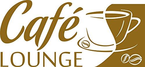 GRAZDesign 620584 Muurtattoo keuken Café-Lounge | Koffiespreuk aan de muur | Wanddecoratie voor café - bar - Kneipe als sticker | zelfklevende plakfolie 123x57cm 092, koper
