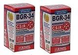 4 Packs of BGR-34 Tablets 100% Natural Herbal Blood Glucose Metaboliser Research Product of C.S.I.R.