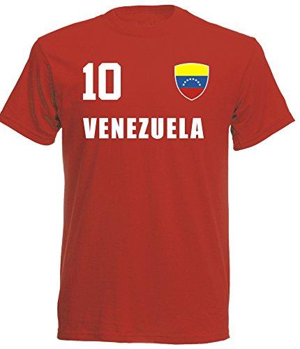 aprom - Venezuela Kinder T-Shirt Trikot ALL-10 Rot - WM 2018 Fußball (104)